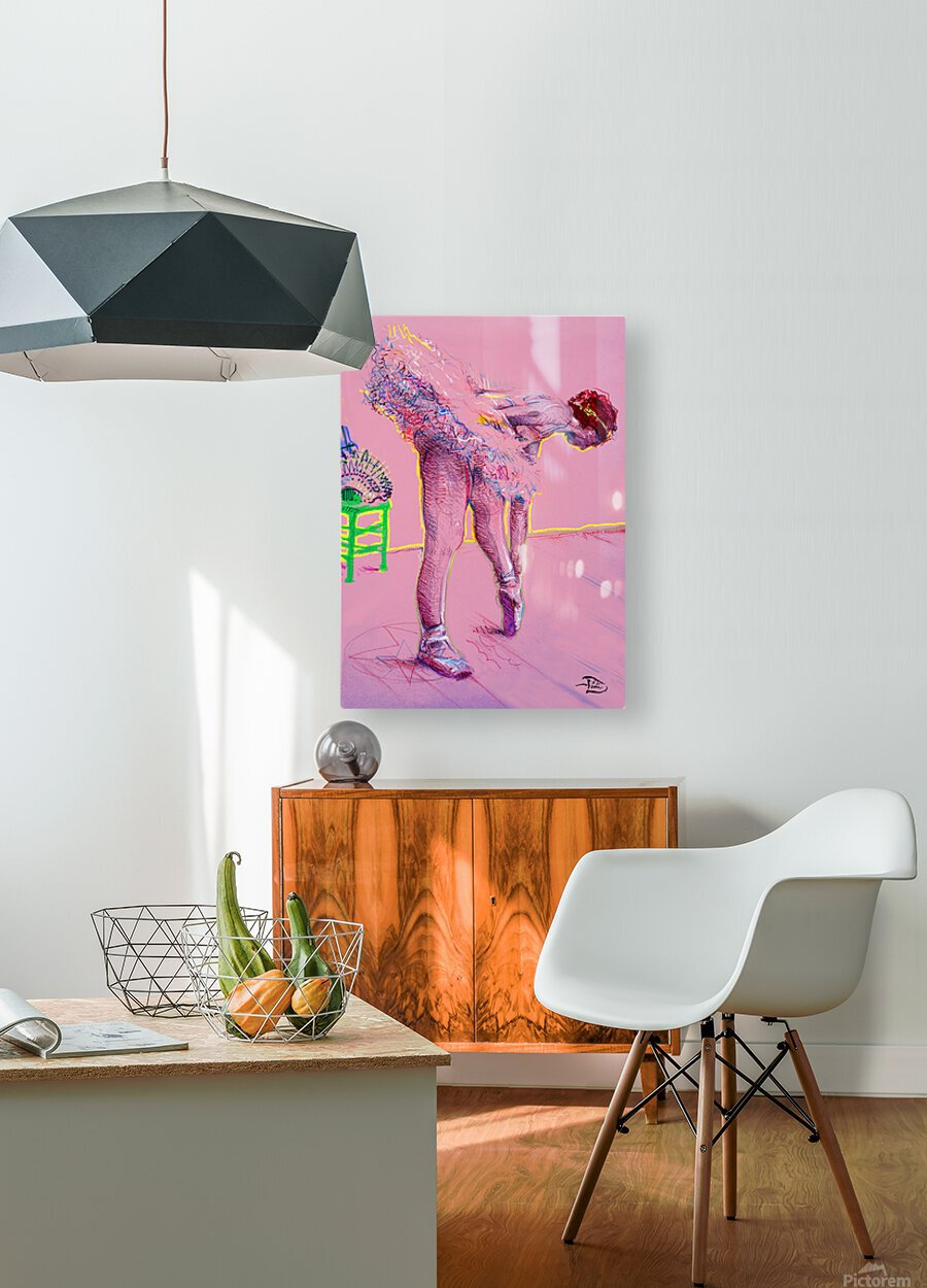 Pink Study East  HD Metal print with Floating Frame on Back