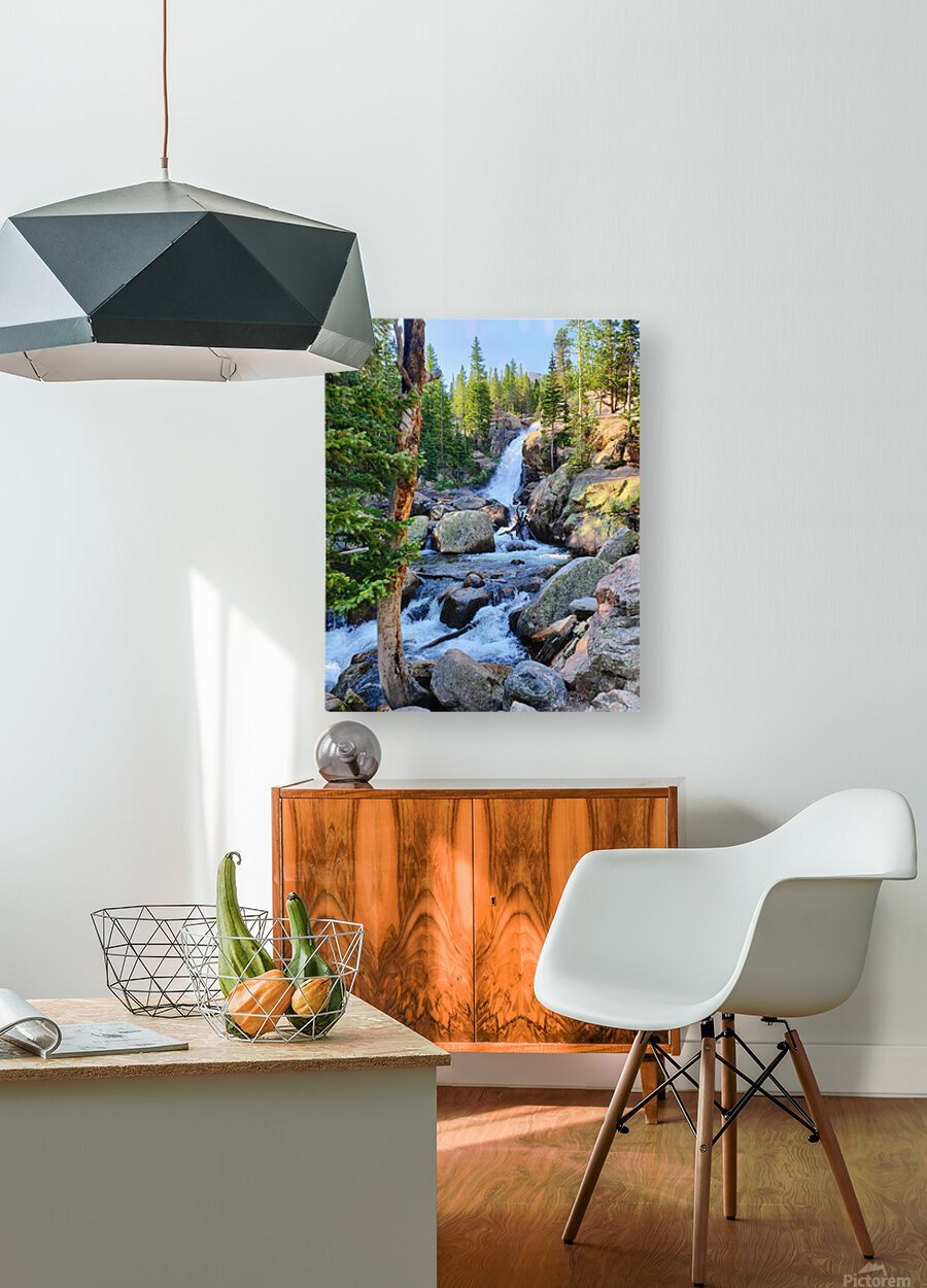 Alberta Falls  HD Metal print with Floating Frame on Back