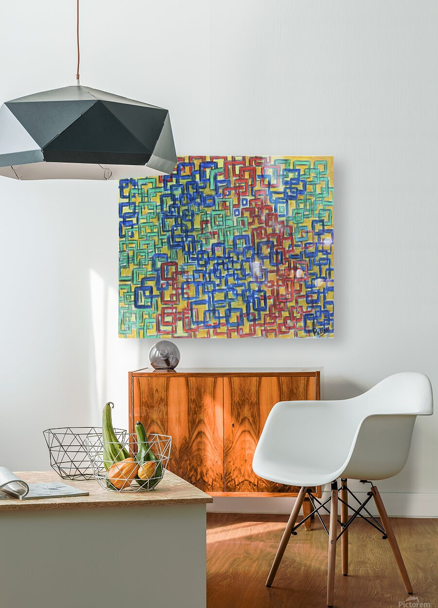 Squares  HD Metal print with Floating Frame on Back