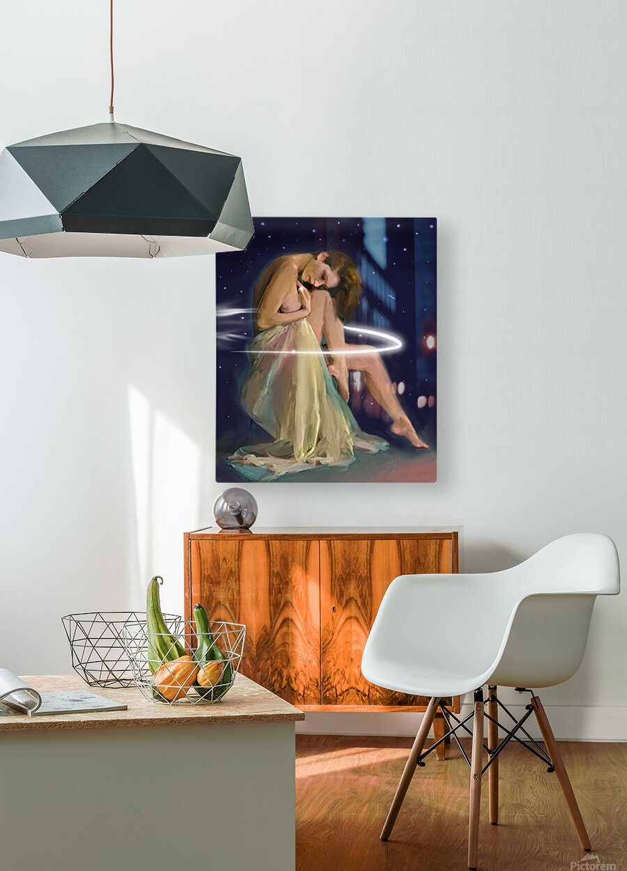 Drapery and Stars  HD Metal print with Floating Frame on Back