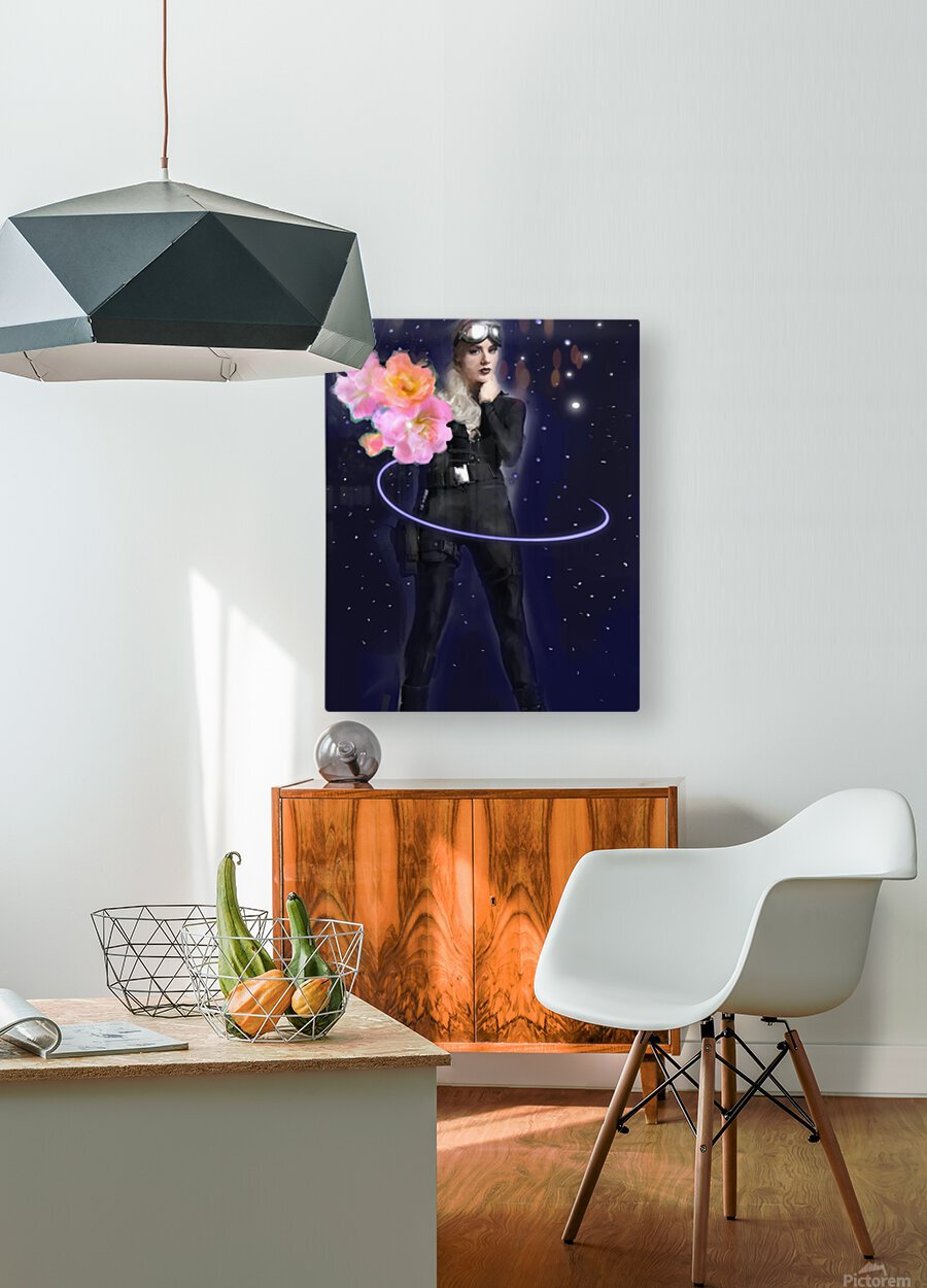 Cosmic Colleen  HD Metal print with Floating Frame on Back