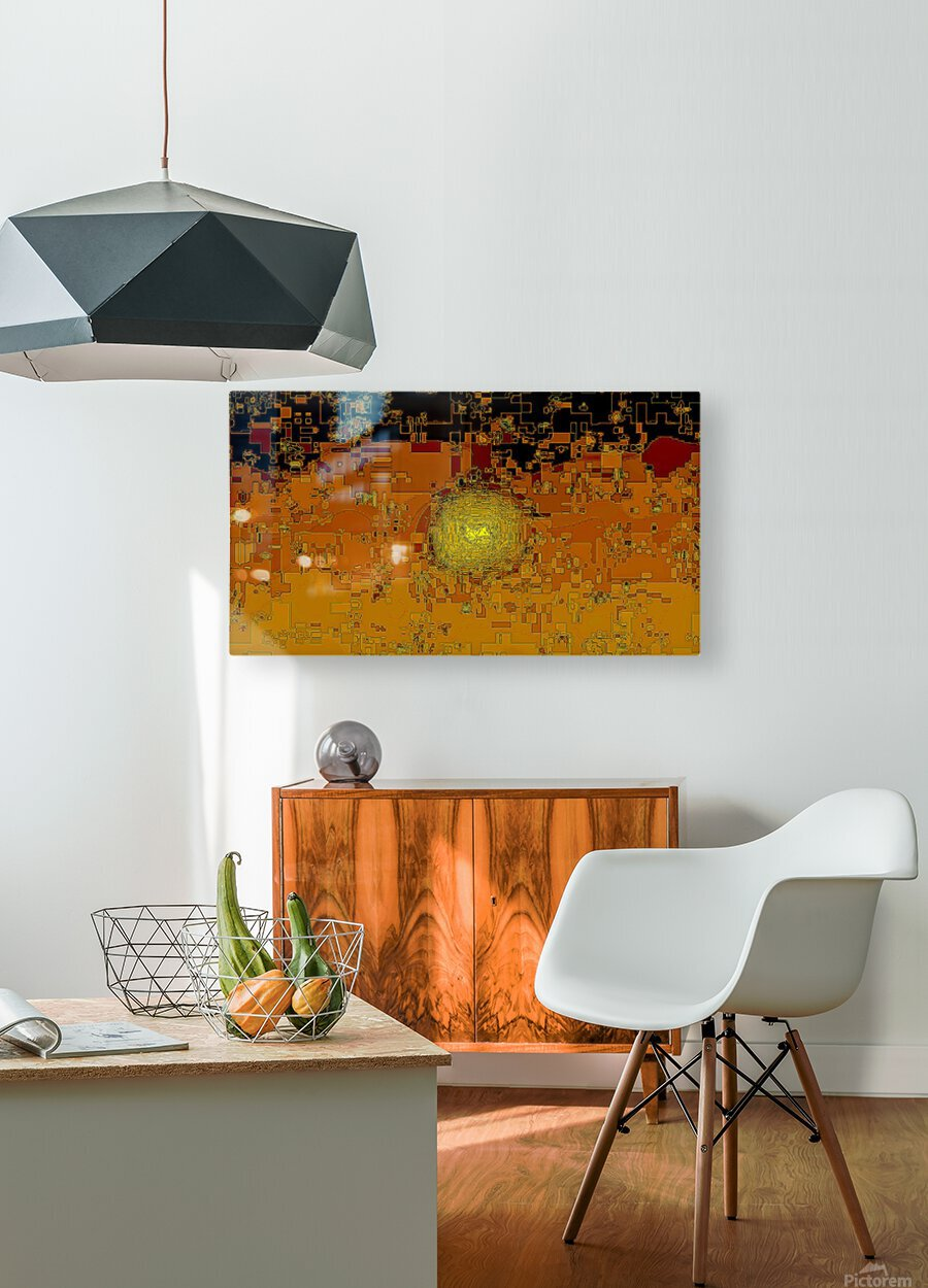 Mayan Sun  HD Metal print with Floating Frame on Back