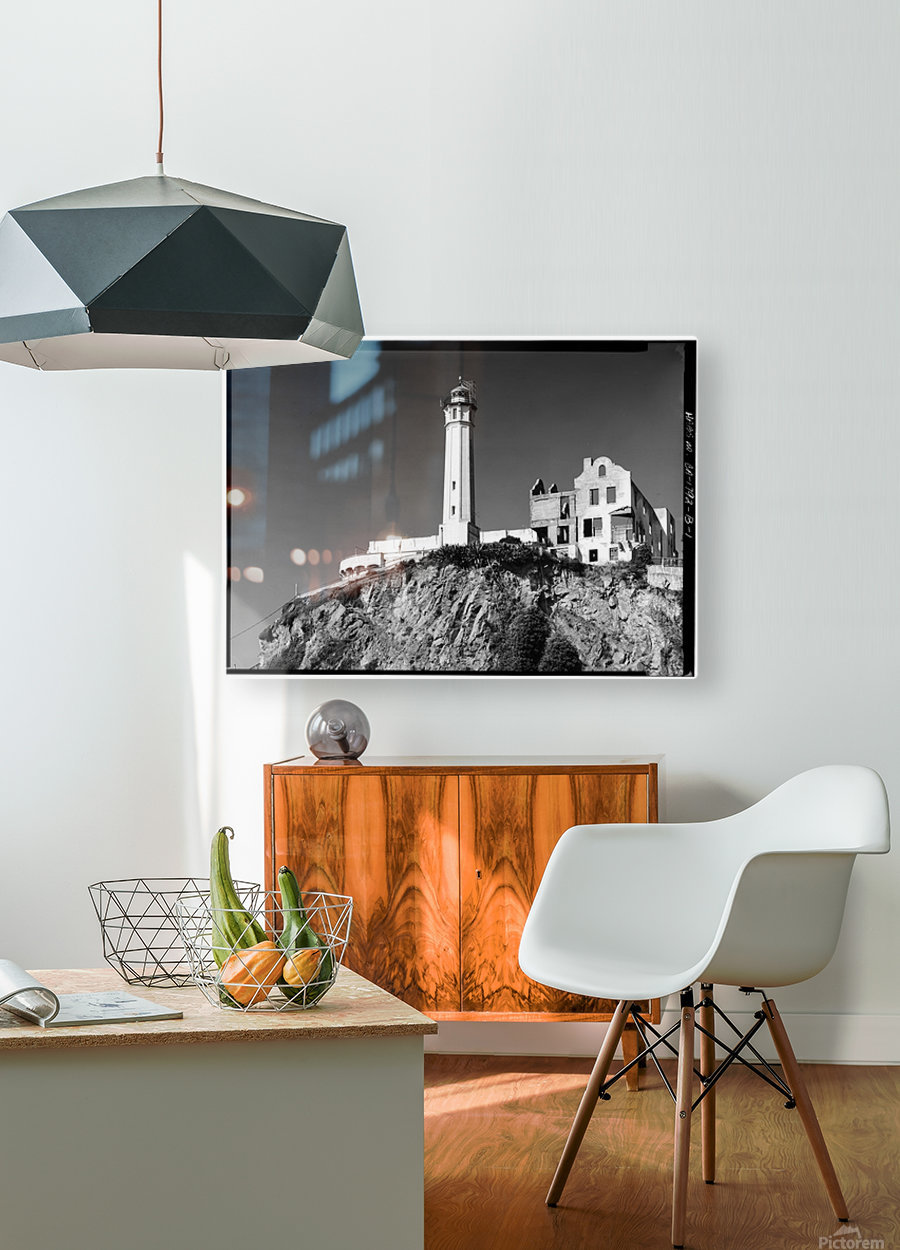 Alcatraz Lighthouse, California  HD Metal print with Floating Frame on Back