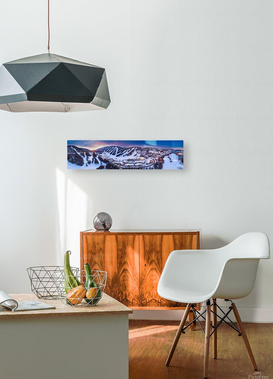 Village Sunset Wide  HD Metal print with Floating Frame on Back