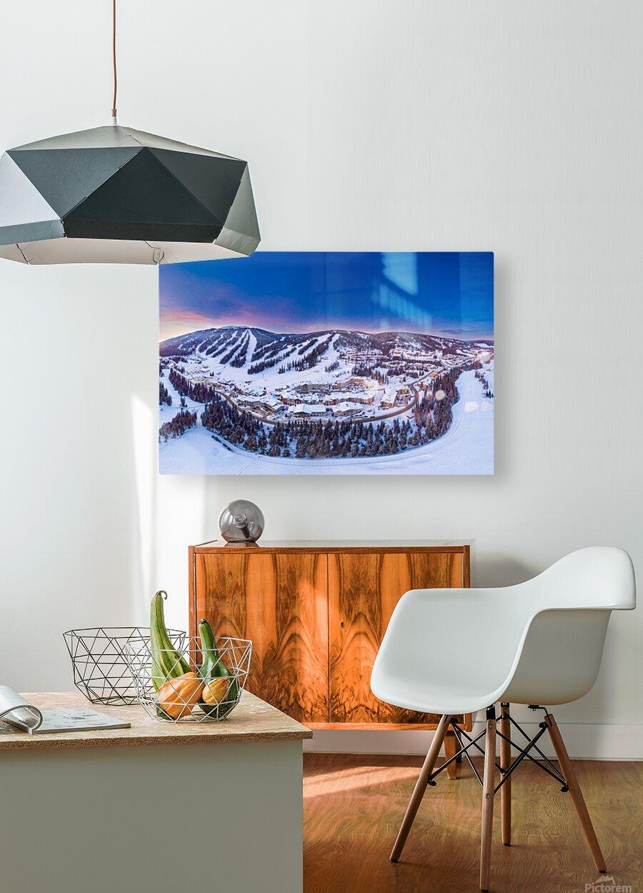 Village Sunset  HD Metal print with Floating Frame on Back