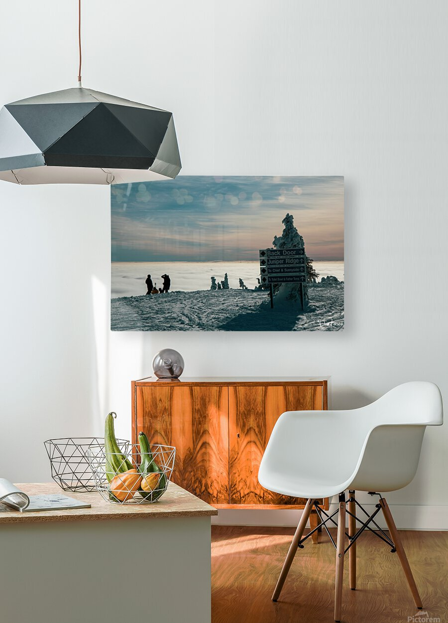 Technicolour Contemplation  HD Metal print with Floating Frame on Back