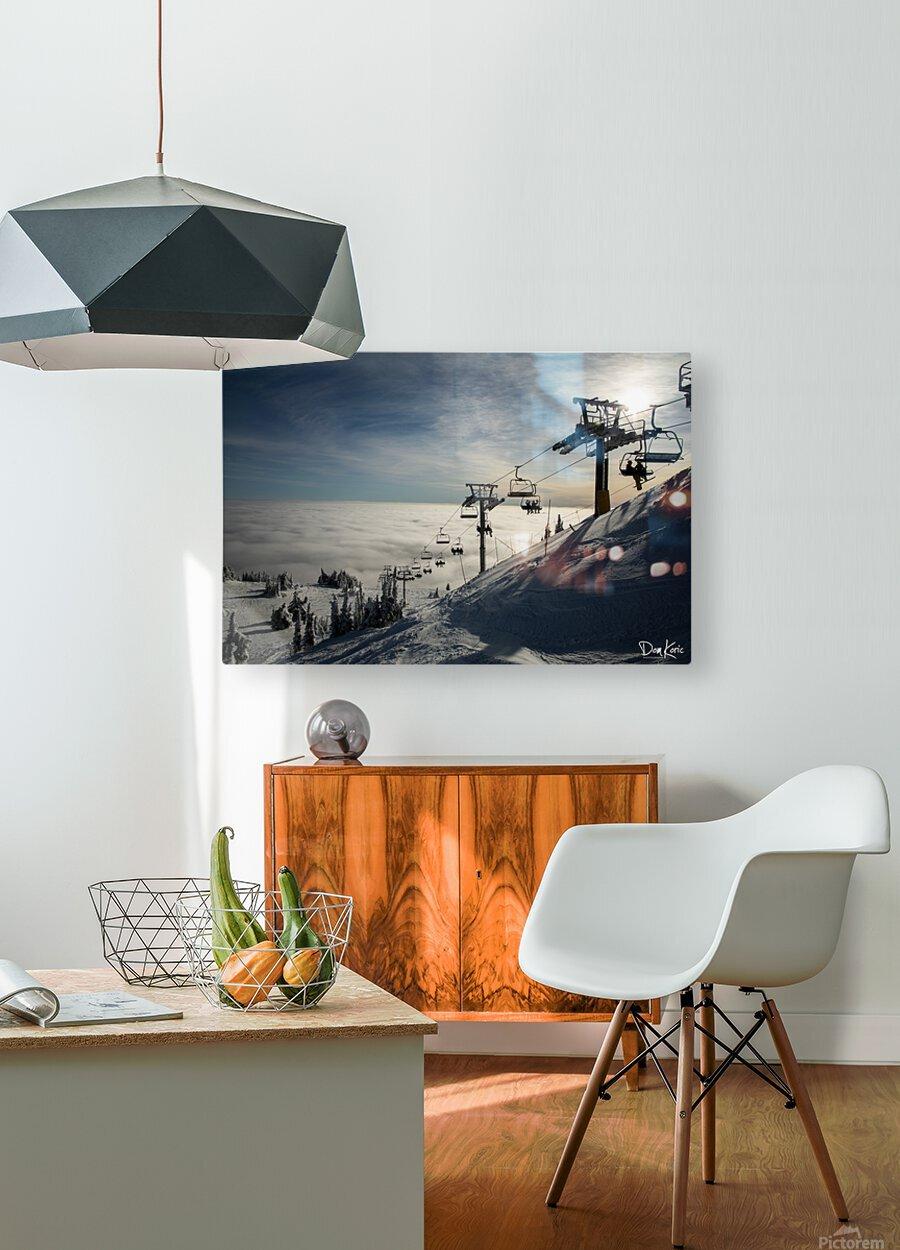 Dec 31 Print 8  HD Metal print with Floating Frame on Back