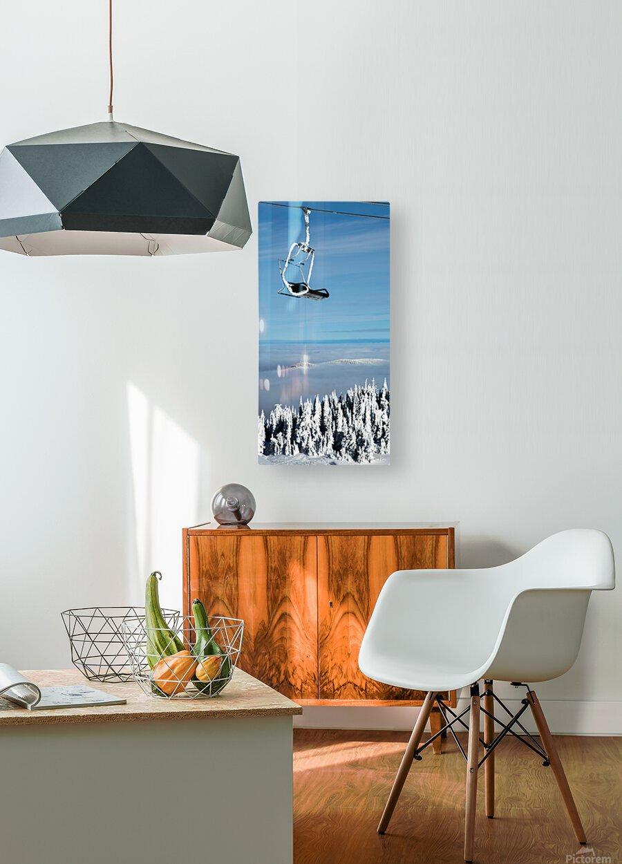 Steel Sky  HD Metal print with Floating Frame on Back