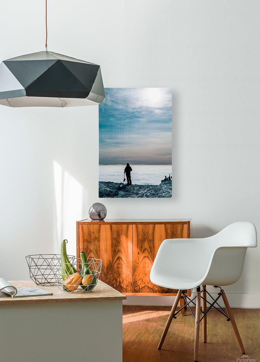 Awe  HD Metal print with Floating Frame on Back