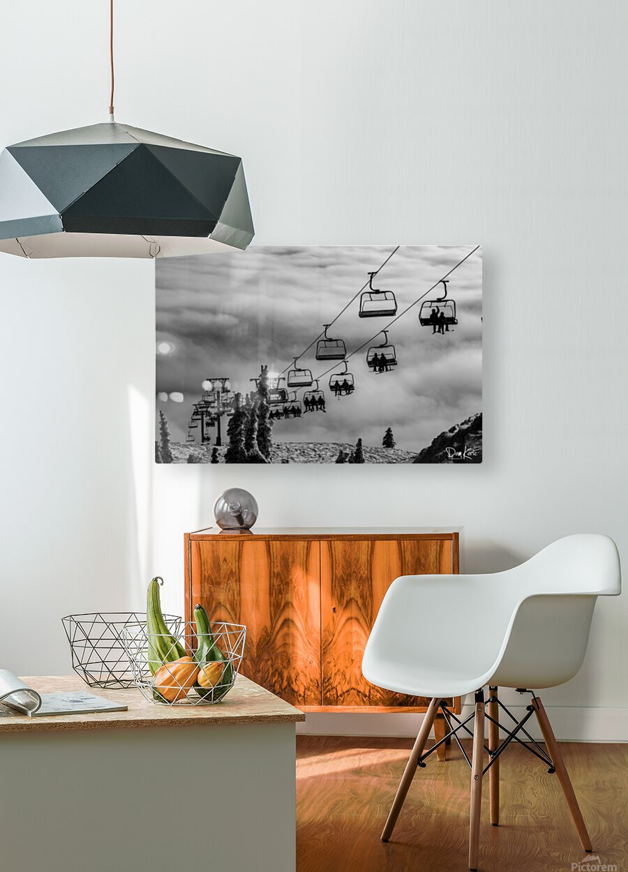 Crystal Clouds  HD Metal print with Floating Frame on Back
