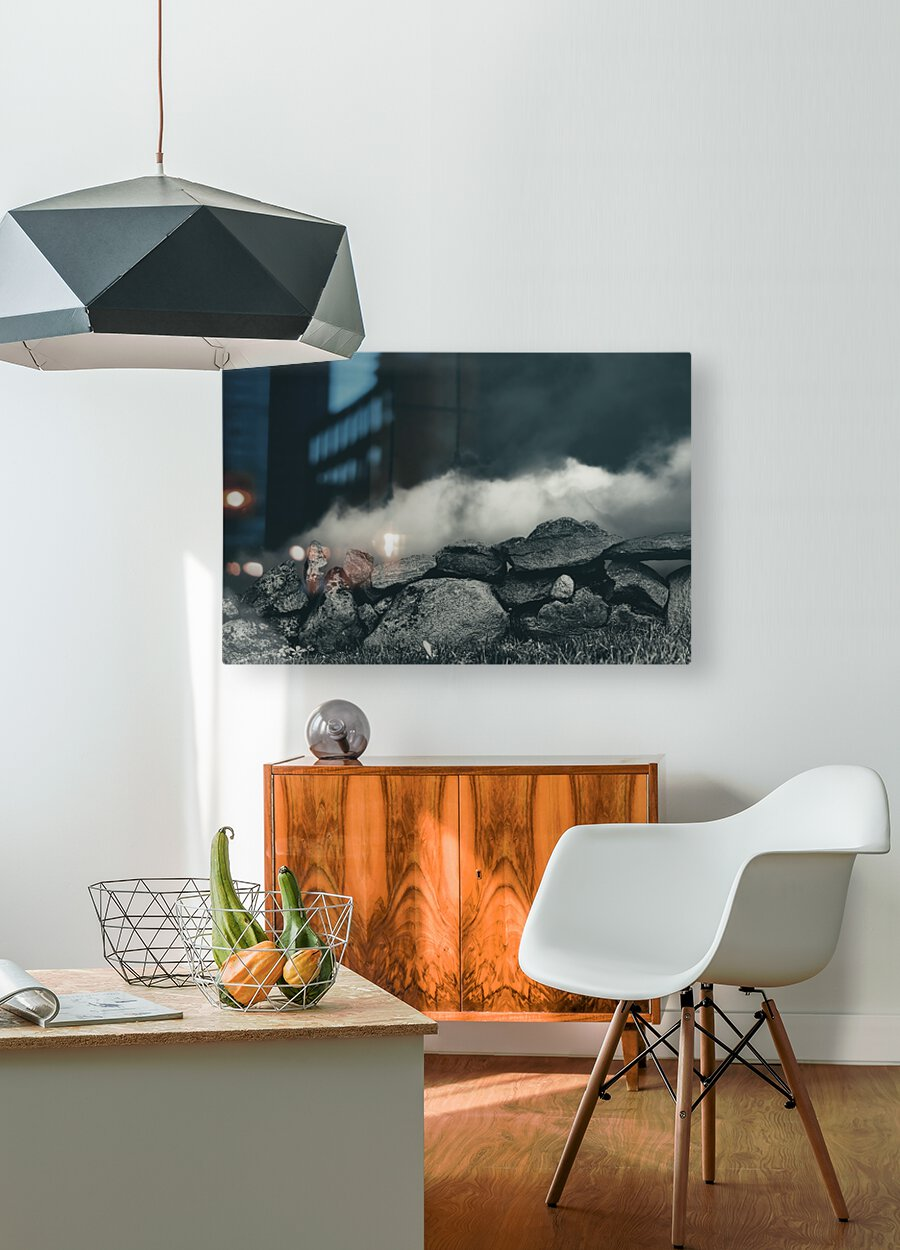 Behind The Wall  HD Metal print with Floating Frame on Back