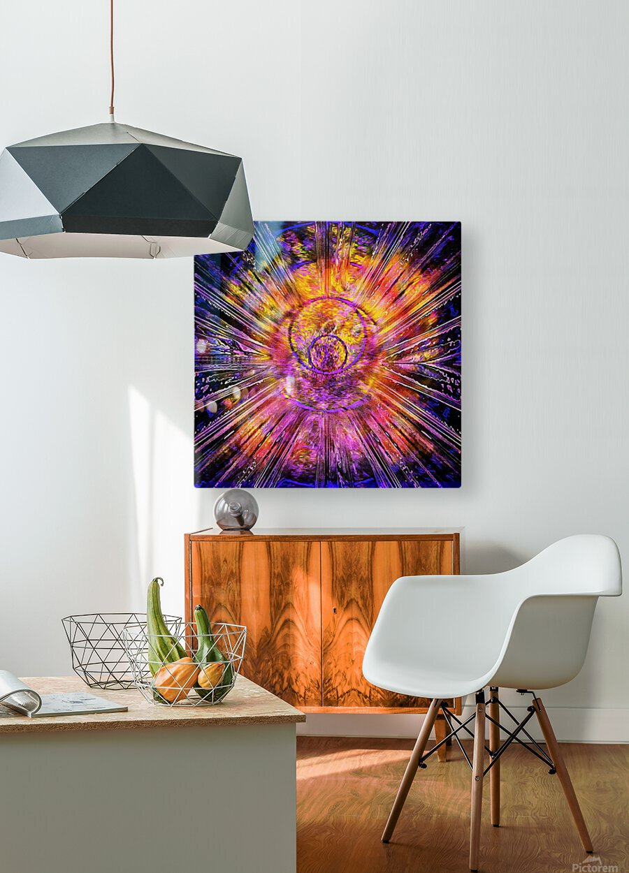Light Body Activation  HD Metal print with Floating Frame on Back