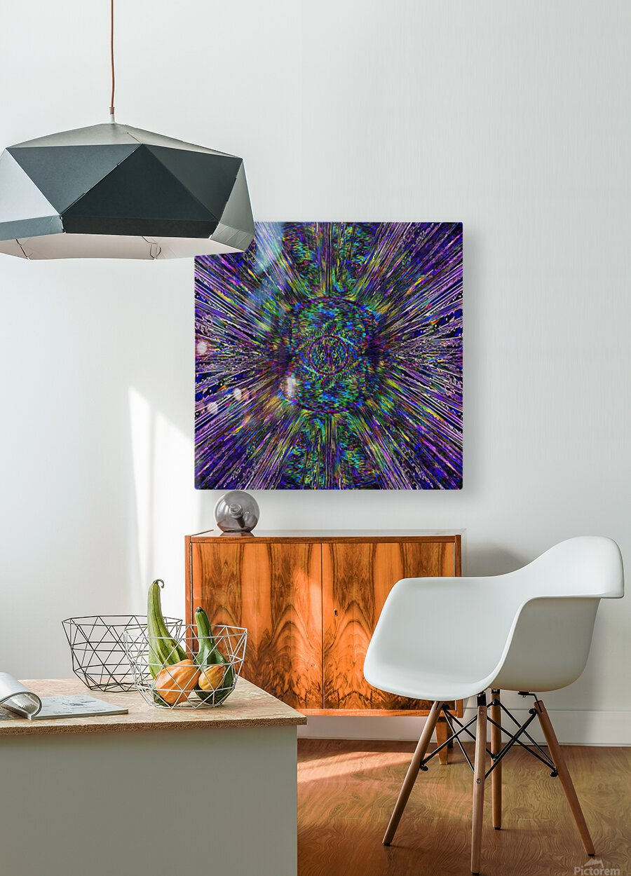 Eye of the Universe  HD Metal print with Floating Frame on Back