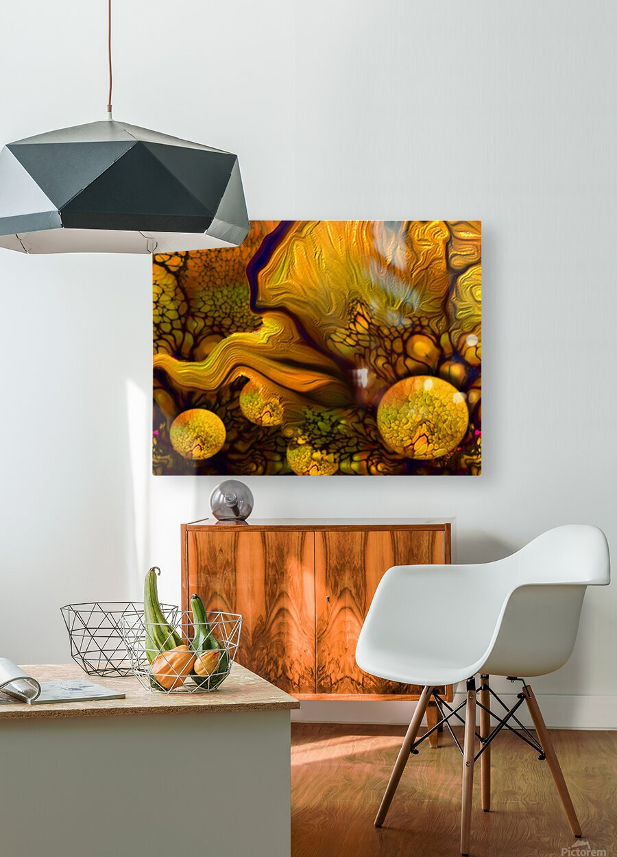 POLLENS SUMMER GLOW 5  HD Metal print with Floating Frame on Back