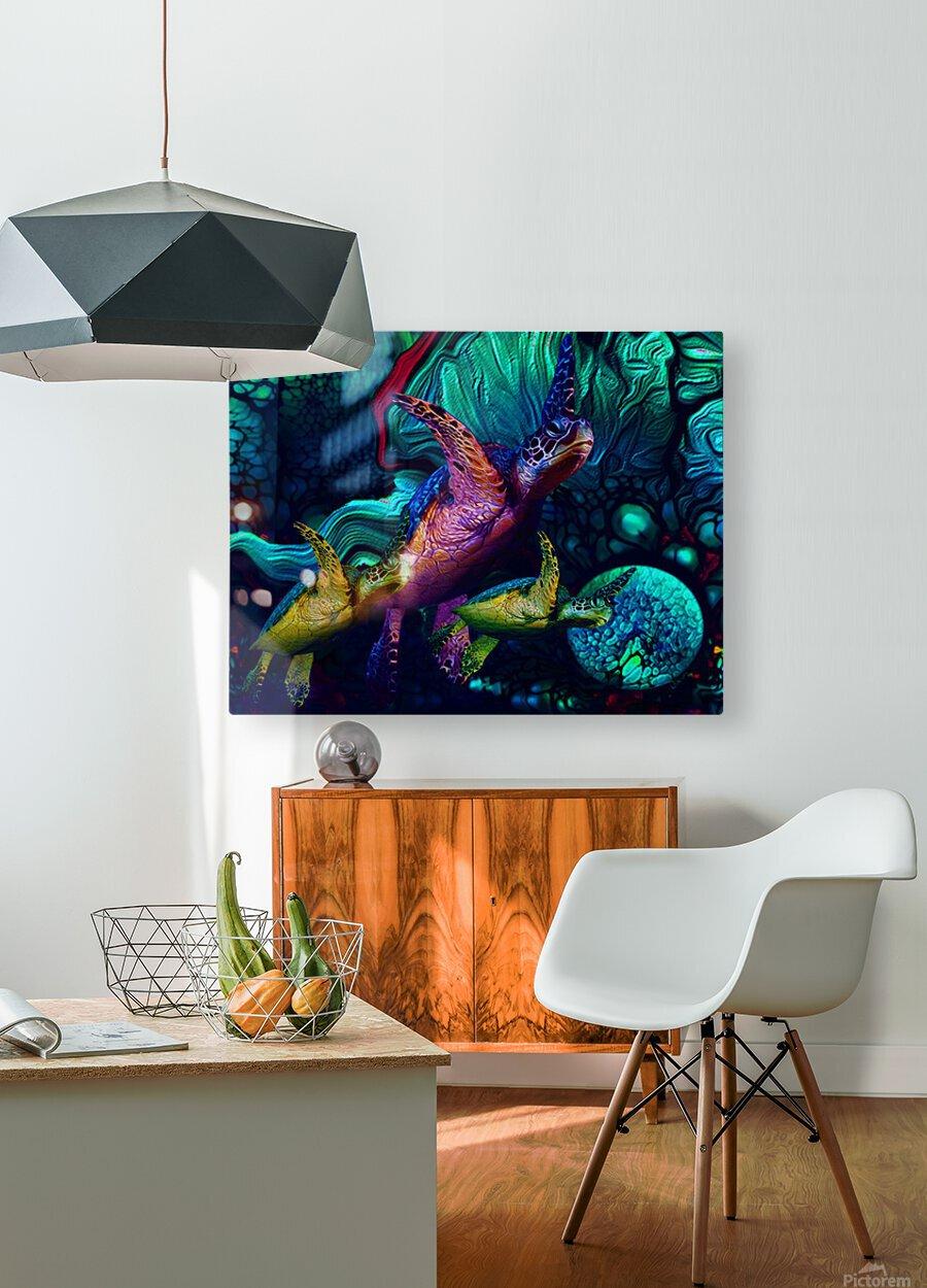 Turtles en Saison 5  HD Metal print with Floating Frame on Back