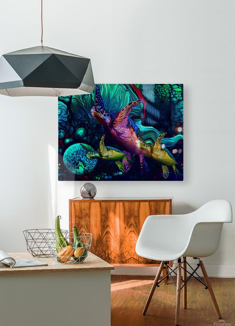 Turtles en Saison 6  HD Metal print with Floating Frame on Back