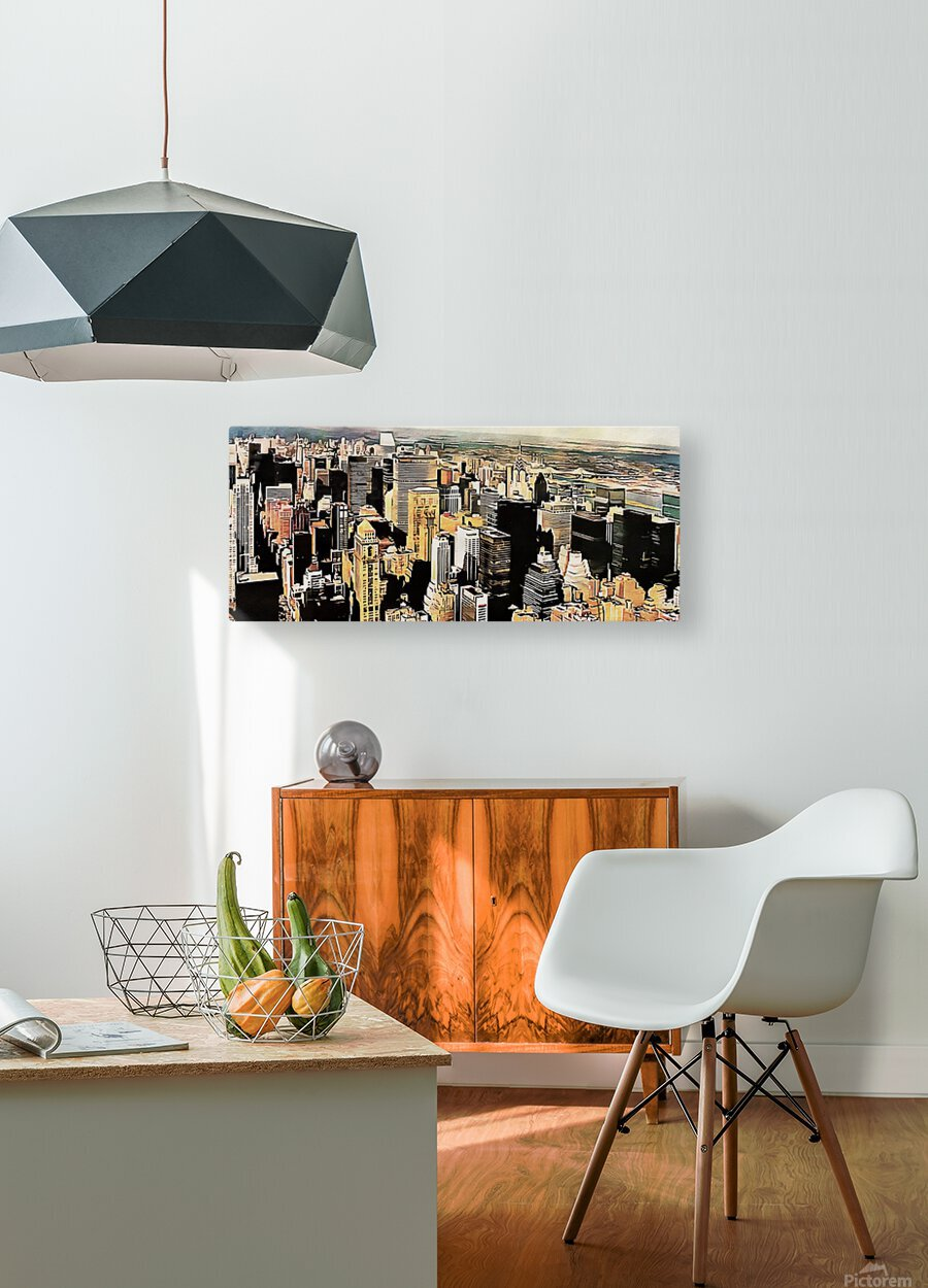 View to the Chrysler Building New York  HD Metal print with Floating Frame on Back