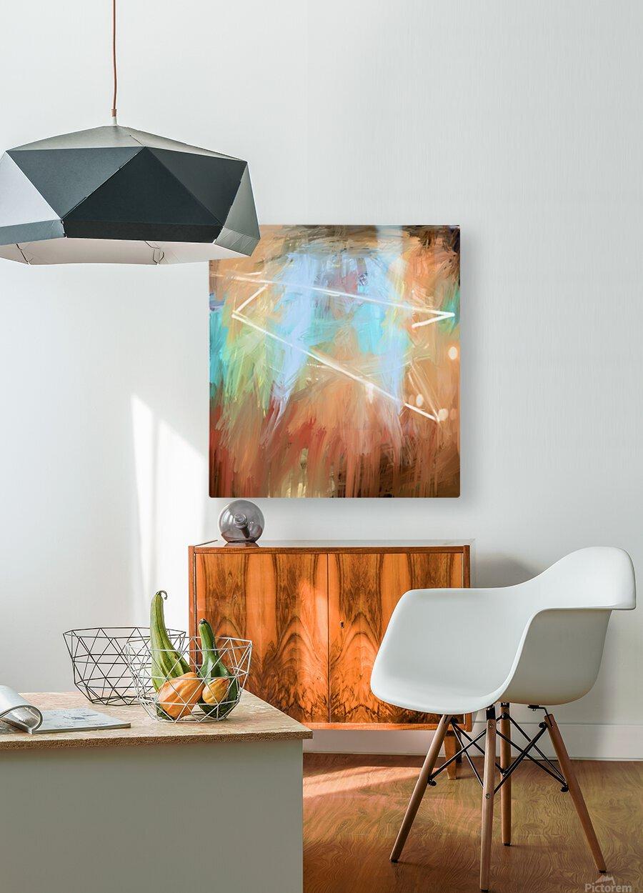 Cosmic Meditation   HD Metal print with Floating Frame on Back