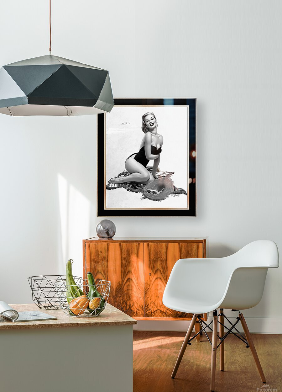 Summertime Sweetheart by Al Buell GS Vintage Xzendor7 Old Masters Art Deco Reproductions  HD Metal print with Floating Frame on Back