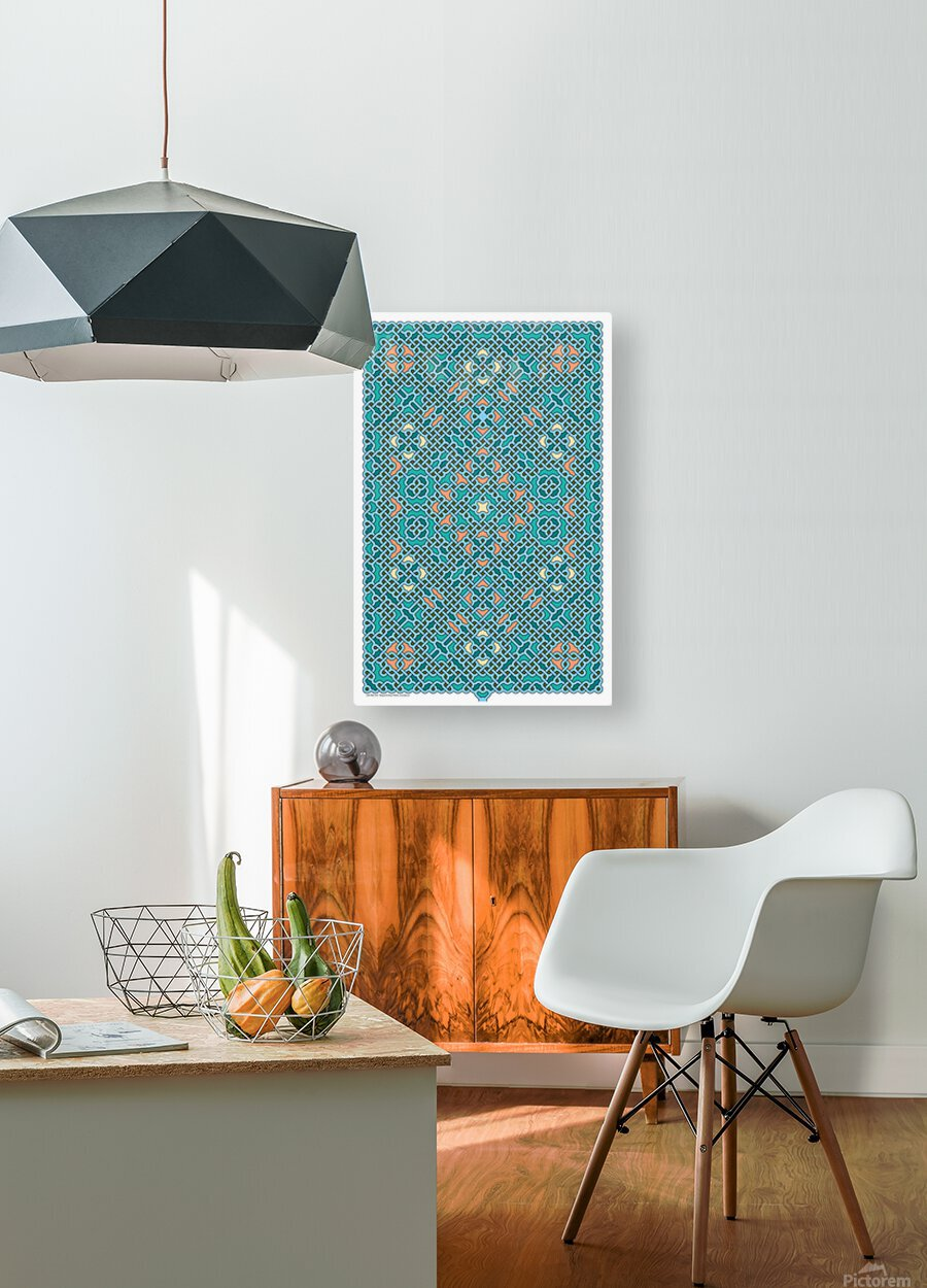 Celtic Maze 5014  HD Metal print with Floating Frame on Back