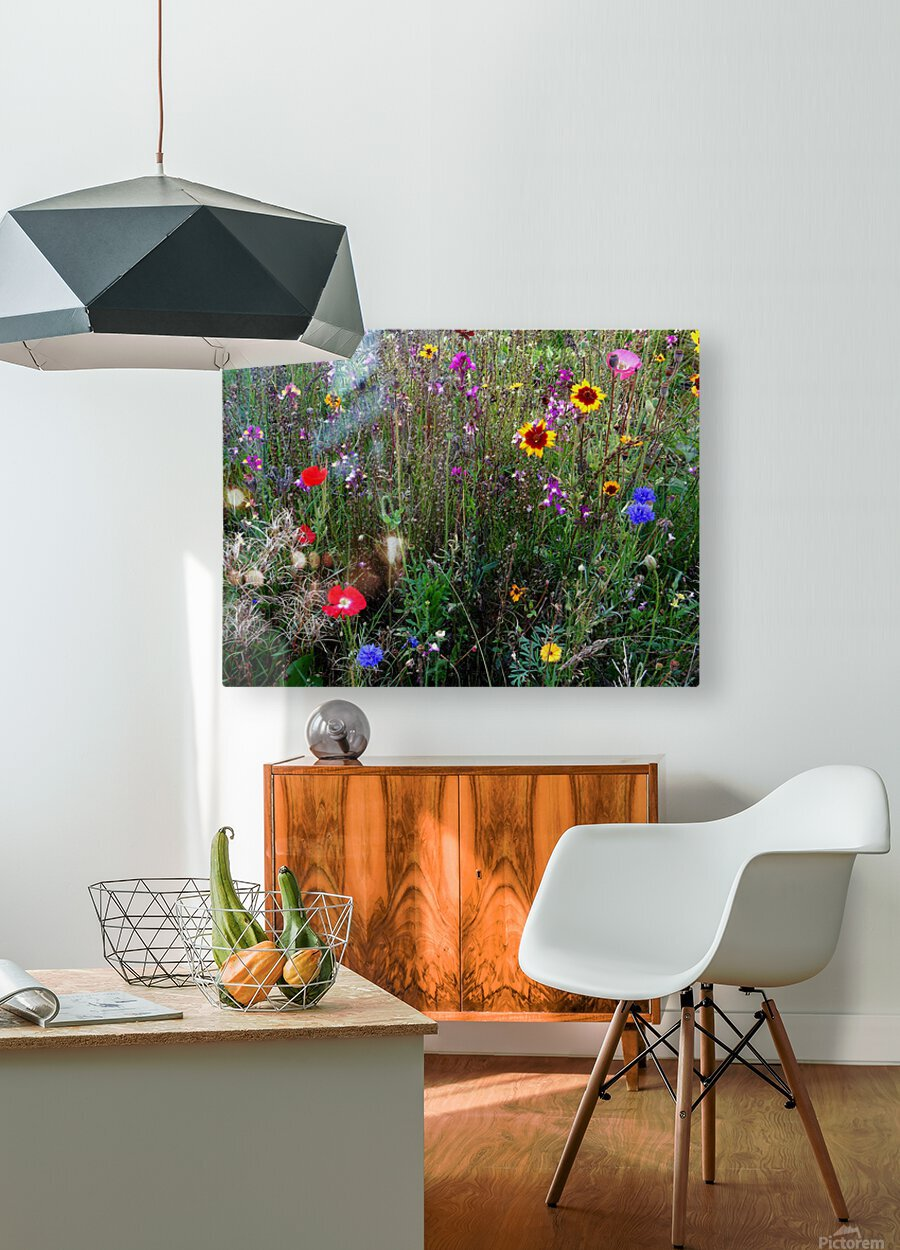 English Cottage Garden Flowers 2  HD Metal print with Floating Frame on Back