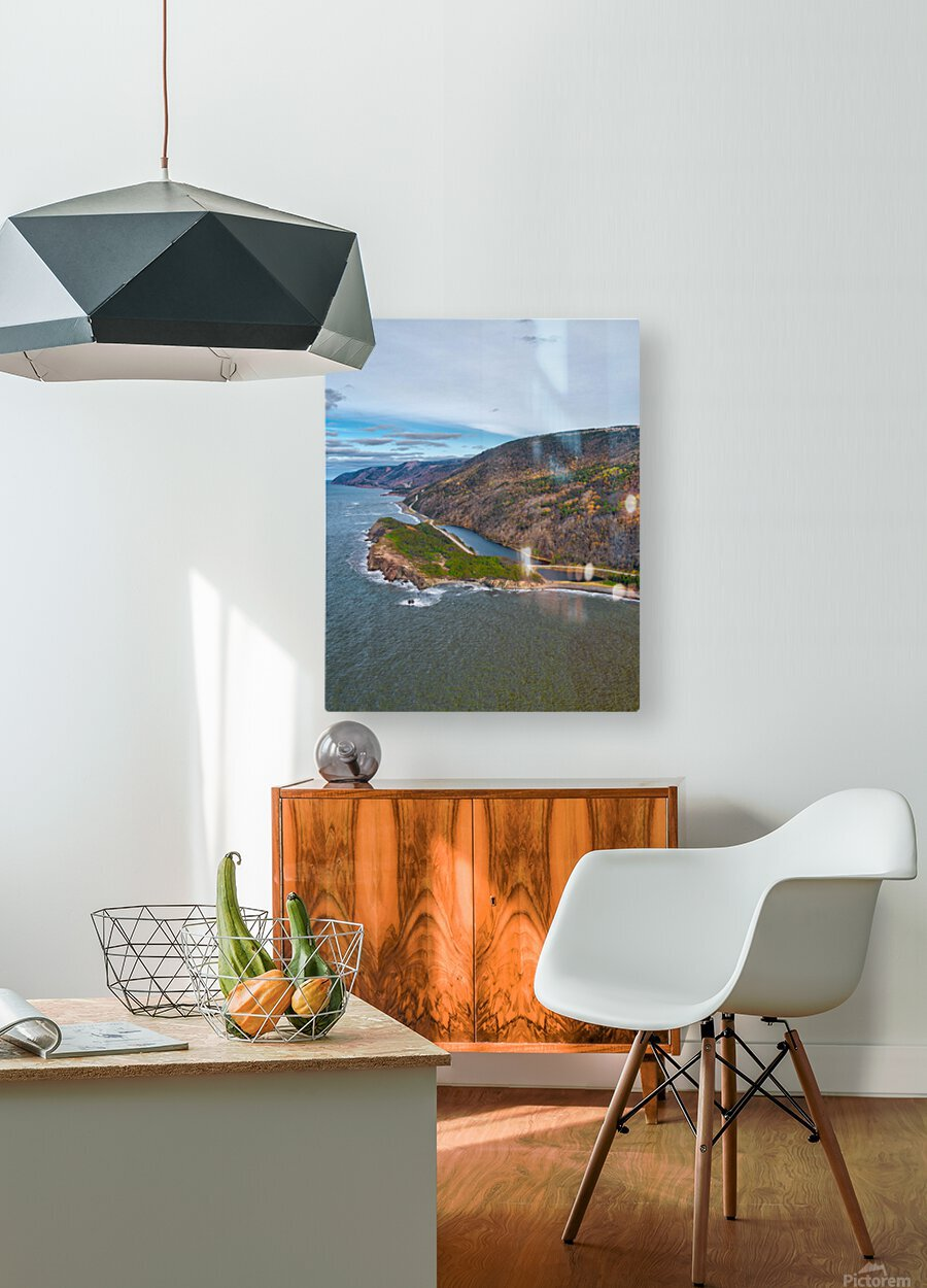 Custom Vert of Cabot Trail  HD Metal print with Floating Frame on Back