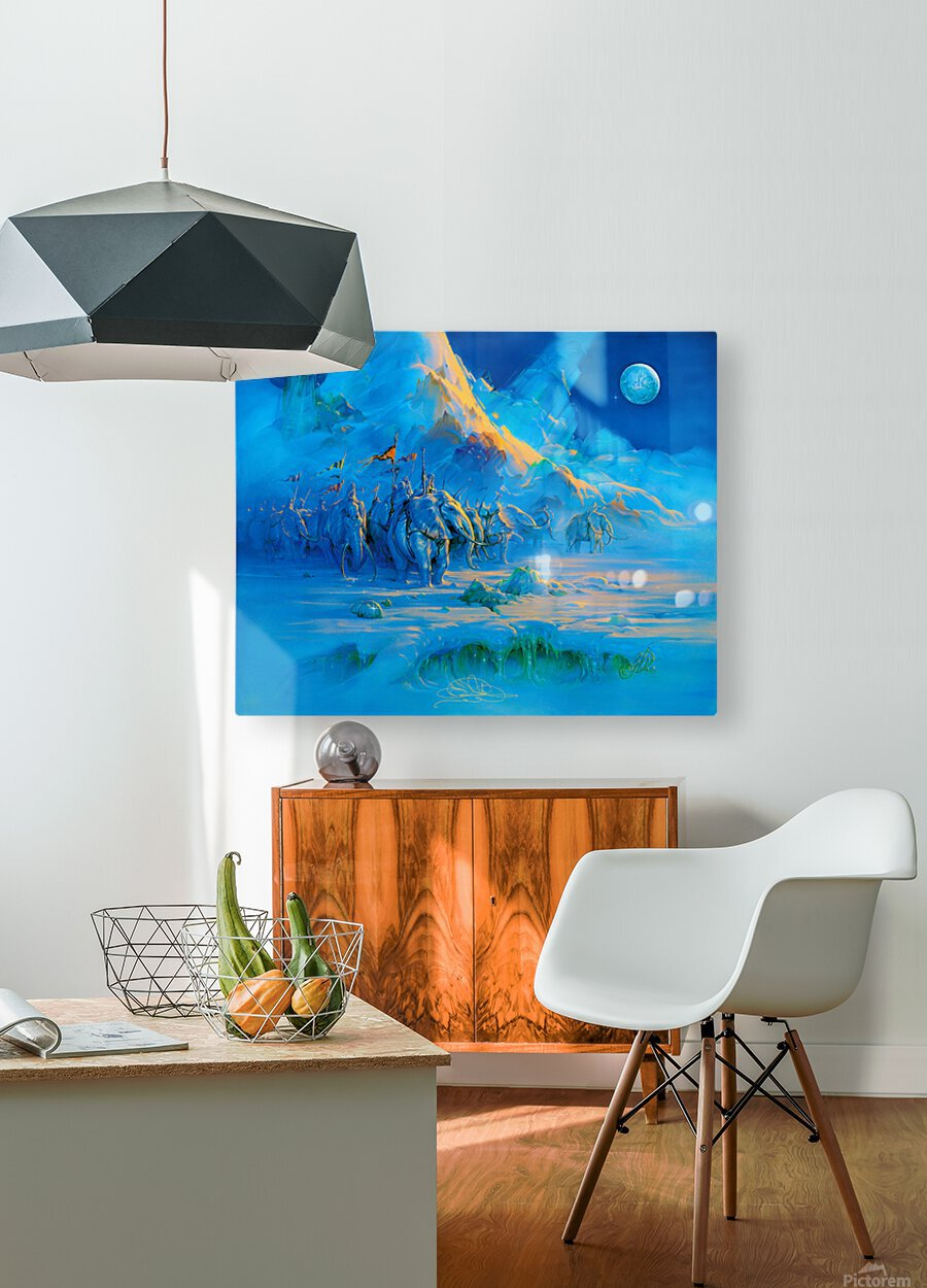 Explorers  HD Metal print with Floating Frame on Back