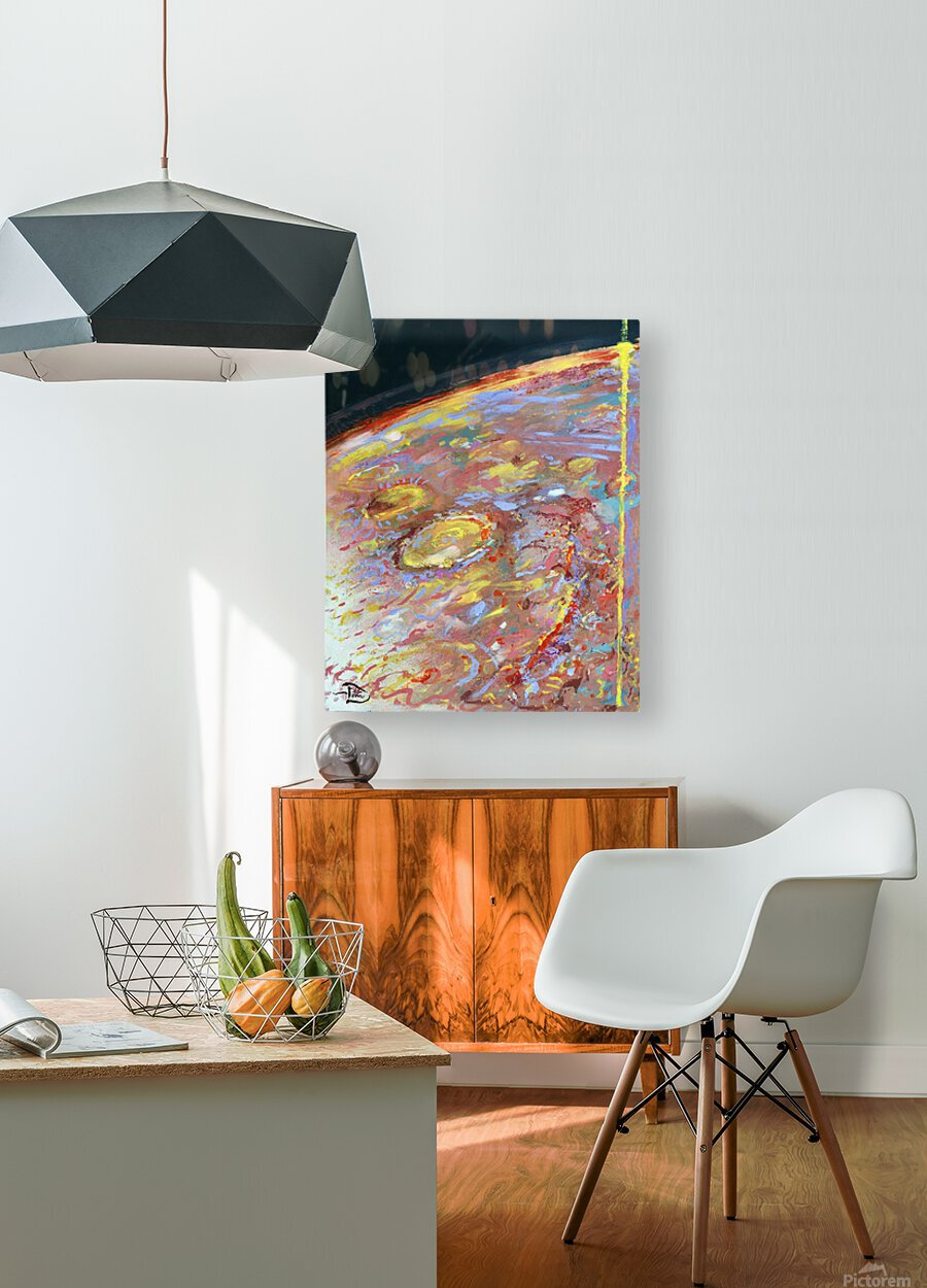 Worlds First Martianpressionist Painting  HD Metal print with Floating Frame on Back