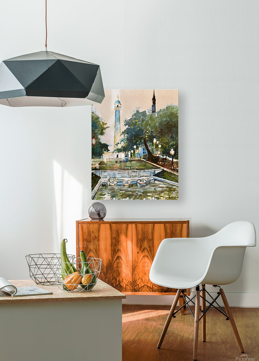Mt Vernon Baltimore  HD Metal print with Floating Frame on Back