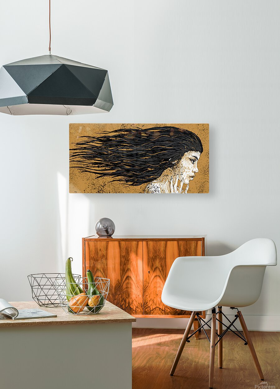 Precious Metals - Concept Art 1 - Gold  HD Metal print with Floating Frame on Back