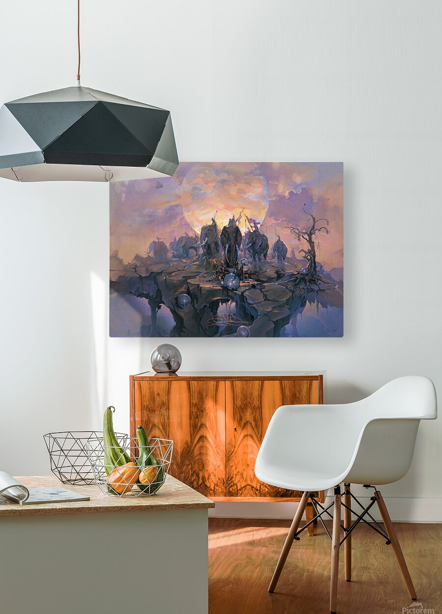 In the Company of Giants  HD Metal print with Floating Frame on Back
