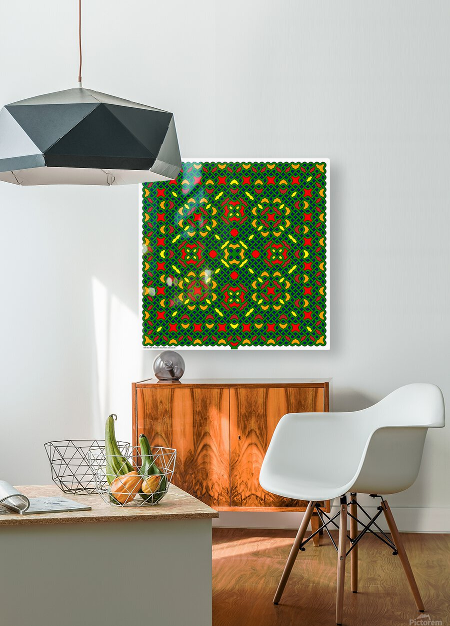 Celtic Maze 5027  HD Metal print with Floating Frame on Back