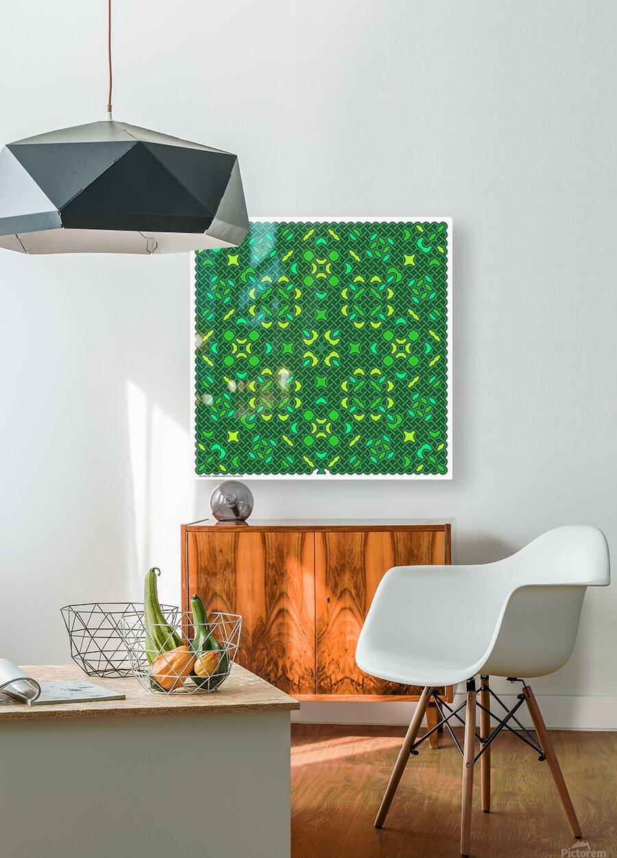 Celtic Maze 5032  HD Metal print with Floating Frame on Back
