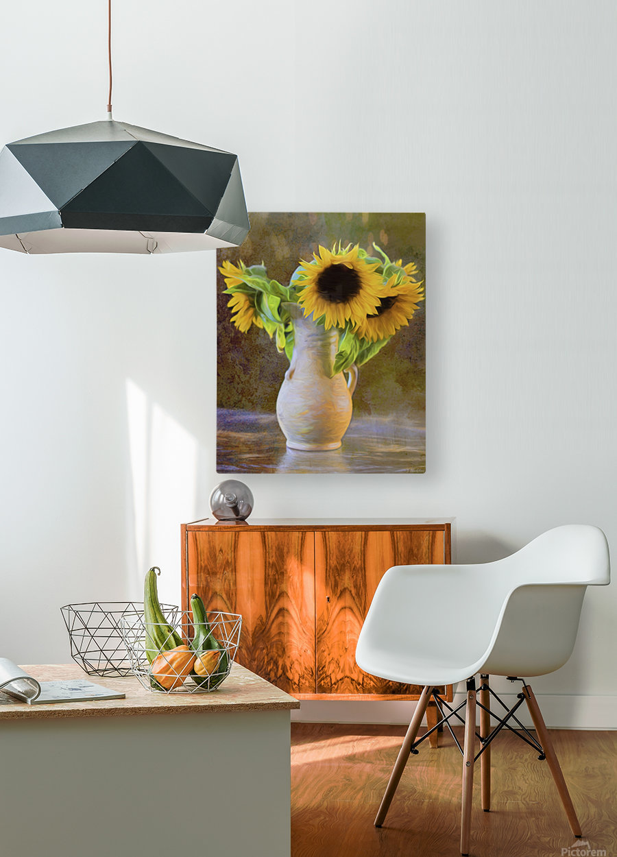 It's What Sunflowers Do - Flower Art by Jordan Blackstone  HD Metal print with Floating Frame on Back