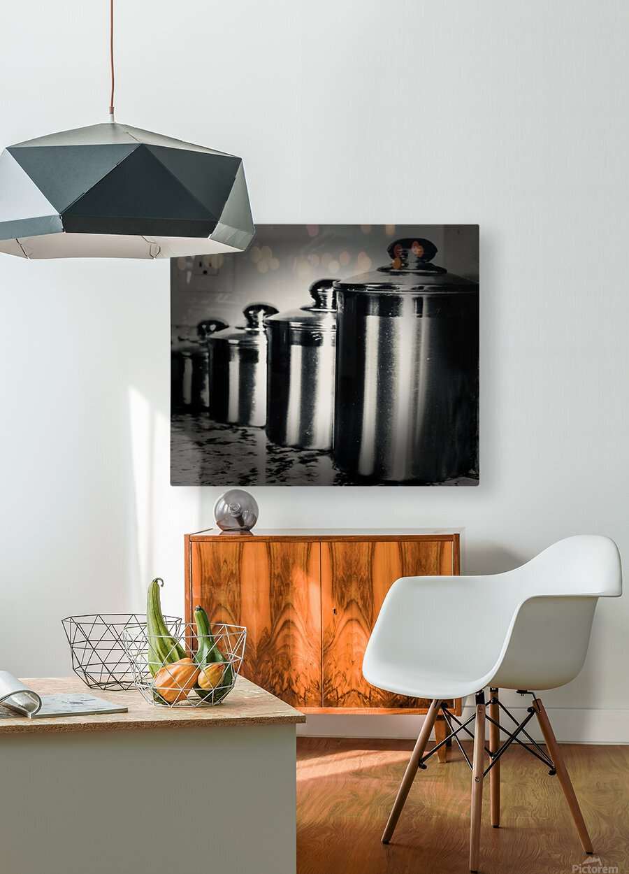 Containers  HD Metal print with Floating Frame on Back