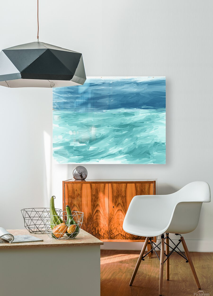 Looking for Swells  HD Metal print with Floating Frame on Back
