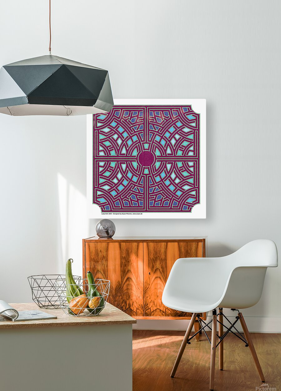 Labyrinth 1803  HD Metal print with Floating Frame on Back