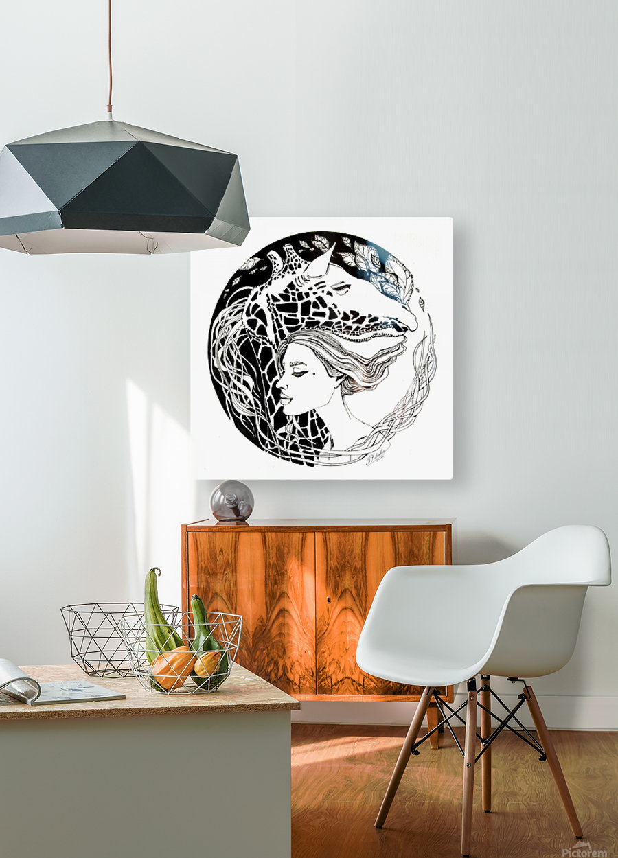 Symbiosis  HD Metal print with Floating Frame on Back