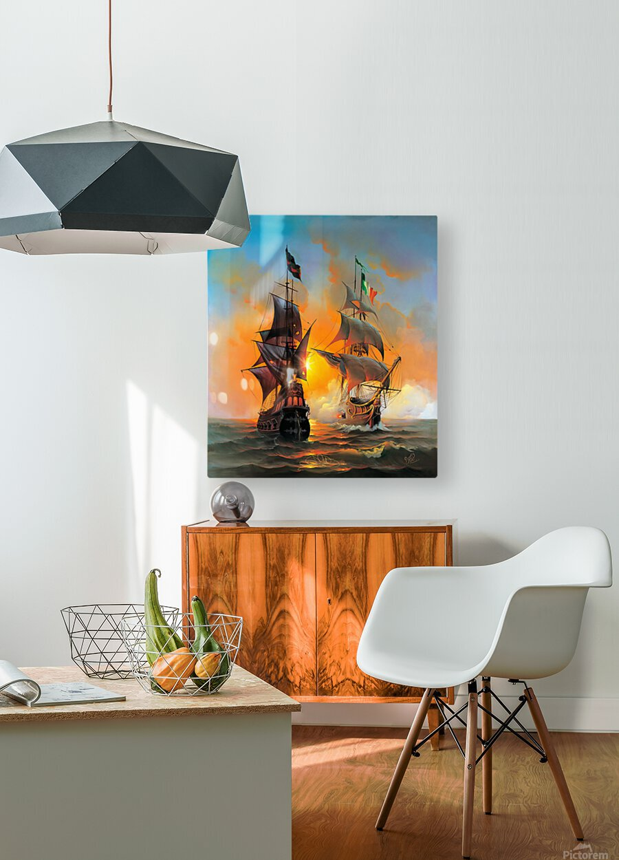 Marauders of the Sea  HD Metal print with Floating Frame on Back