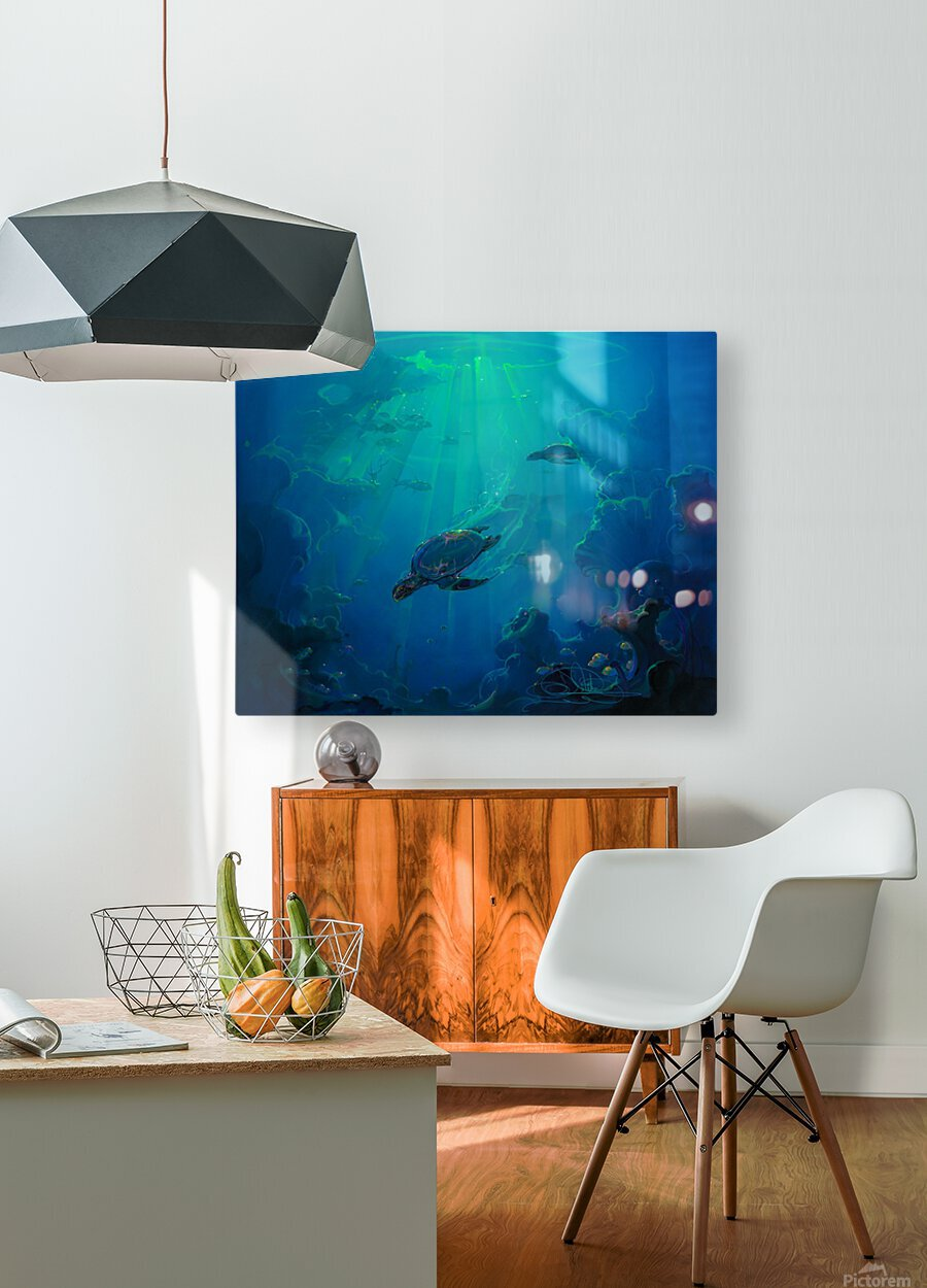 Turtle Canyon  HD Metal print with Floating Frame on Back