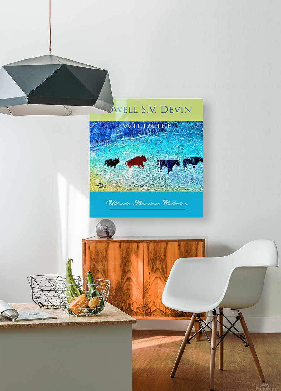 Devin Wildlife UAC Show Poster  HD Metal print with Floating Frame on Back