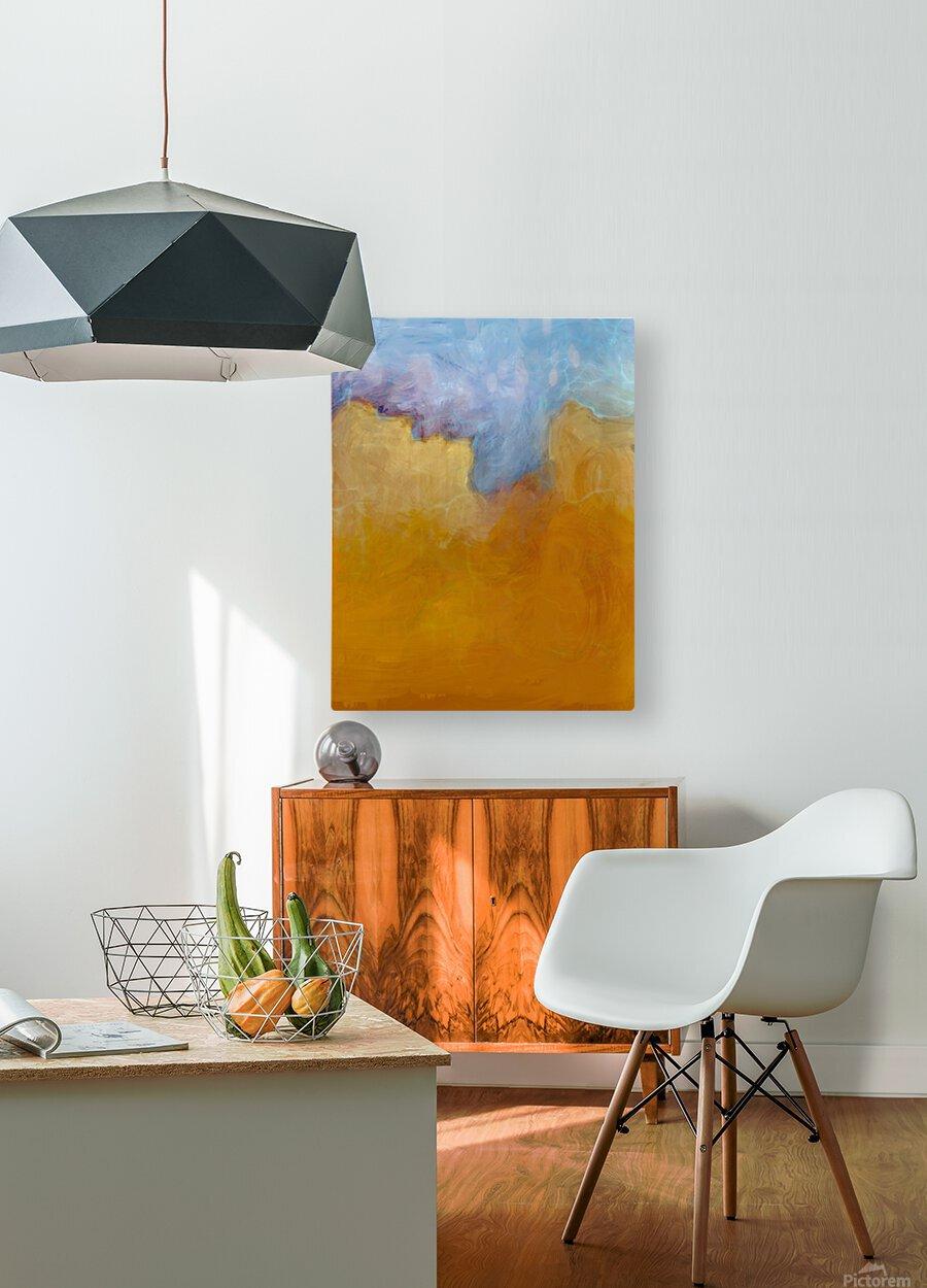Big Orange Cloud  HD Metal print with Floating Frame on Back