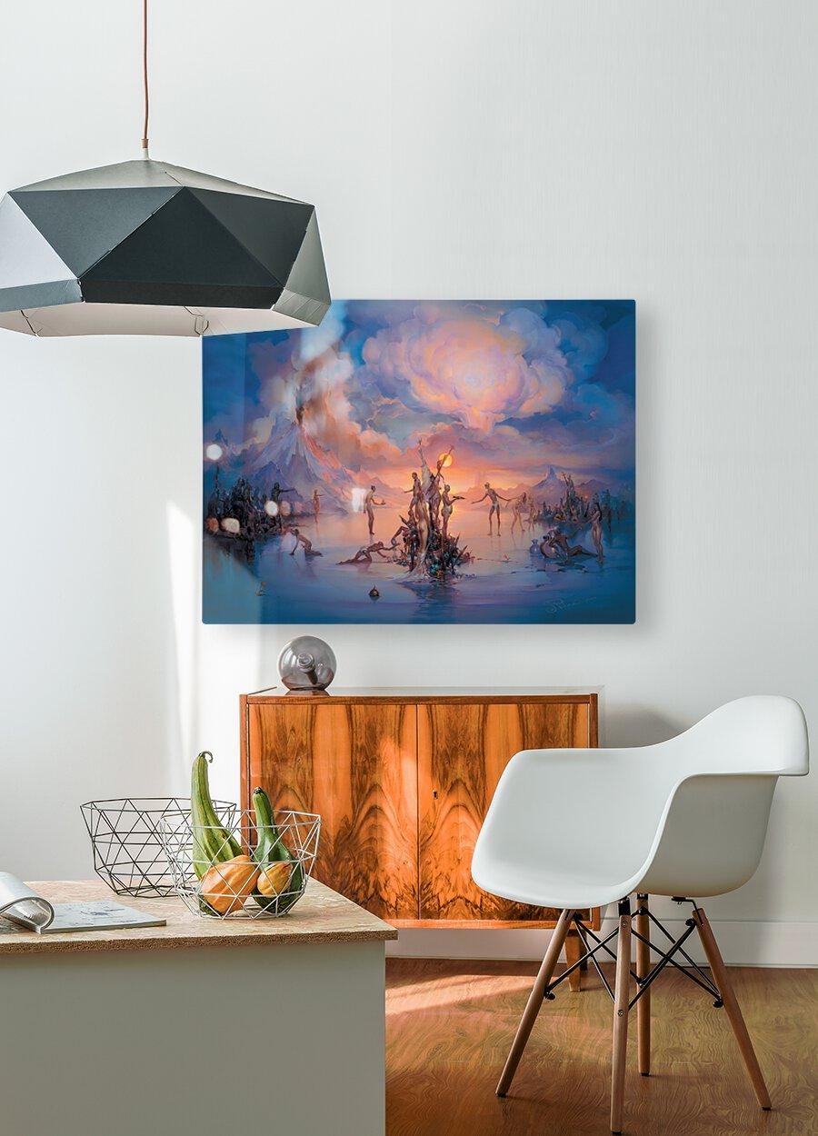 Politics  HD Metal print with Floating Frame on Back