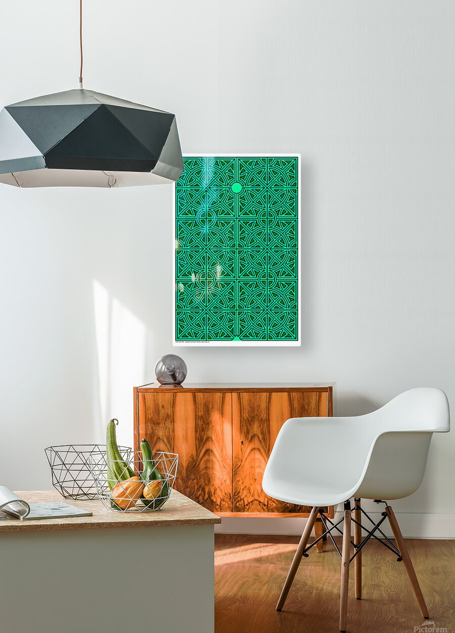 Labyrinth 2603  HD Metal print with Floating Frame on Back