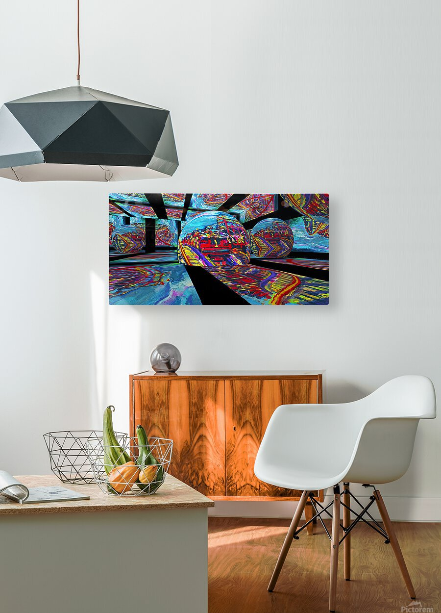 EXTREME Roller Coaster RoomXpander tm Tracking Art  HD Metal print with Floating Frame on Back