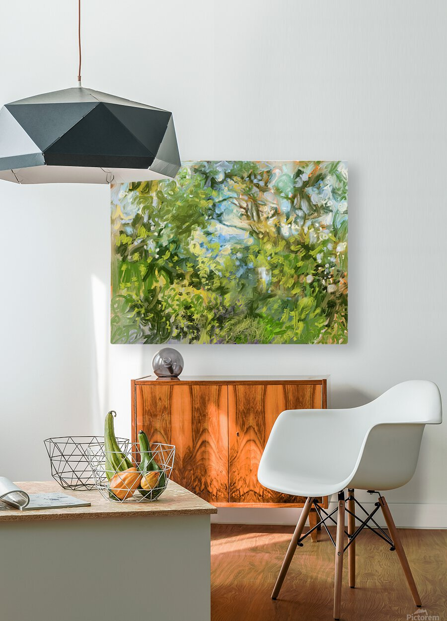 Morning View from my Breakfast Table  HD Metal print with Floating Frame on Back