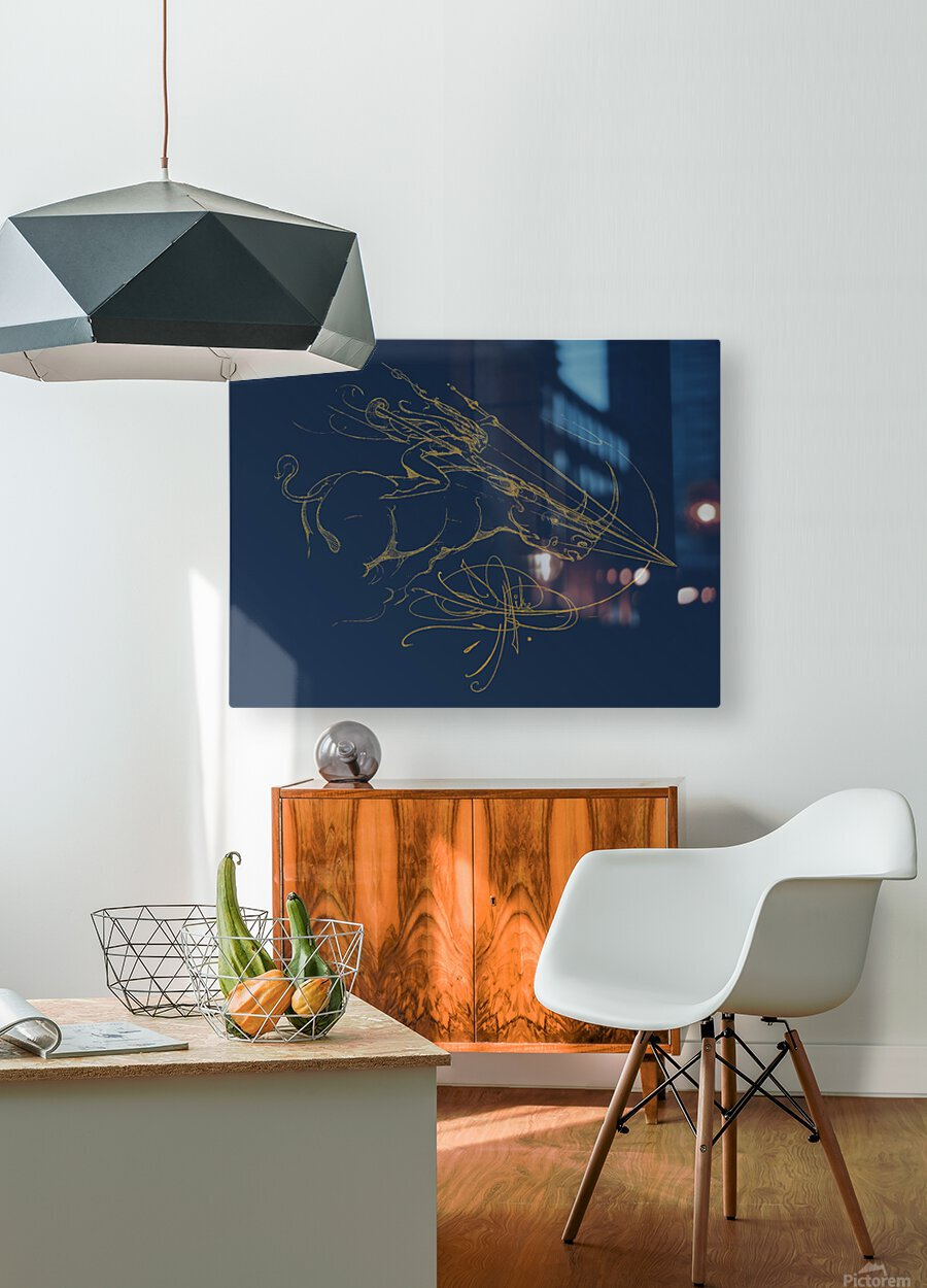 Vanishing Point Dusk  HD Metal print with Floating Frame on Back