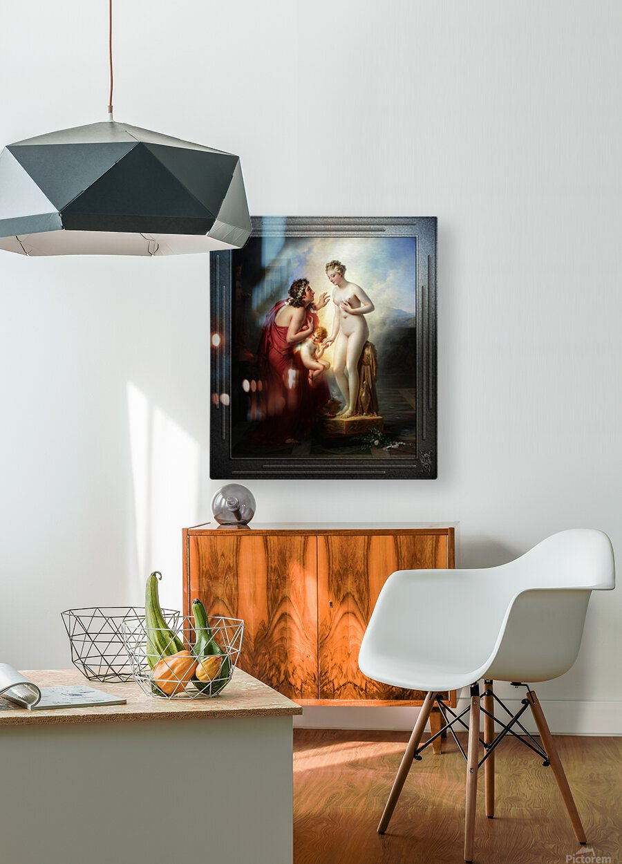 Pygmalion et Galatee byAnne-Louis Girodet-Trioson Classical Fine Art Xzendor7 Old Masters Reproductions  HD Metal print with Floating Frame on Back