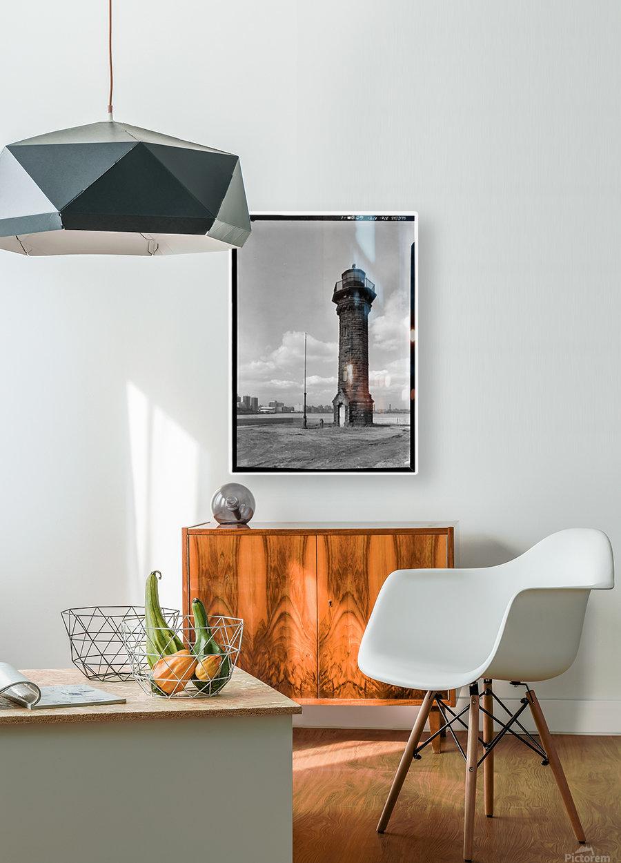 Welfare-Island-Lighthouse-NY  HD Metal print with Floating Frame on Back
