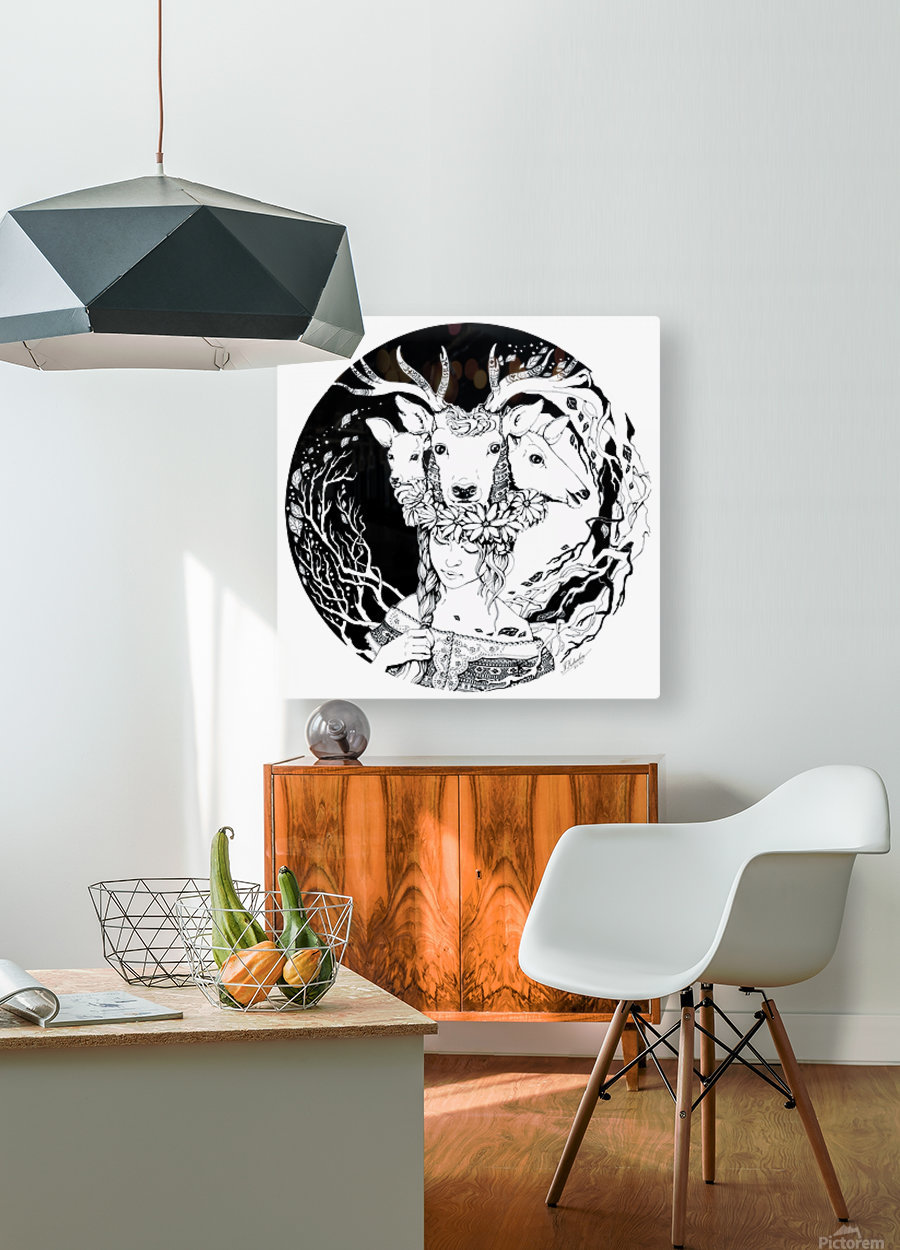 Charpatian Soul  HD Metal print with Floating Frame on Back